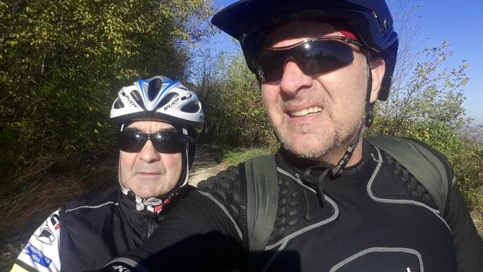 Io e mio cugino Marcello, sopra alla frazione di Cornacchiano