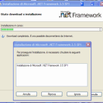 To install .NET 3.5, close the installer