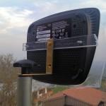 WRT120N sul trepiedi grazie al supporto in plexiglass e placca