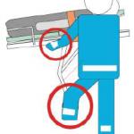 Scarico barella da ambulanza con blocco ruote anteriori