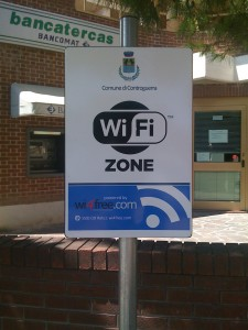 Wifi Zone sign in Controguerra