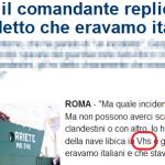 Scoop di Repubblica: il peschereccio è stato mitragliato per colpa di una videocassetta