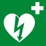 Logo DAE defibrillatore