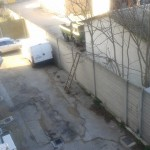 Rapina banca Caripe a Pescara – la scala usata per la fuga