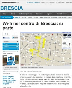 Wifi Brescia Giornale di Brescia