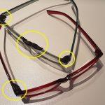 plastica modellabile e occhiali